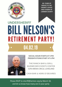 Poster announcing Undersheriff Bill Nelson's Retirement