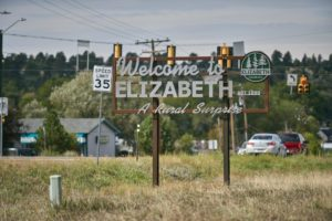 Welcome to Elizabeth sign