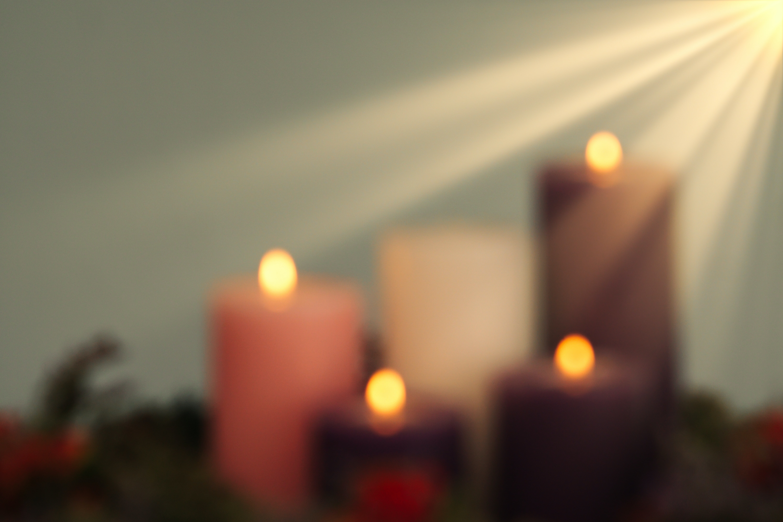 Image of candles burning
